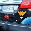 Mosaic Tile Pixel Art Car
