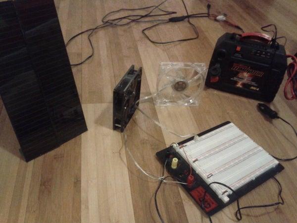 Solar-Powered Desktop Fans