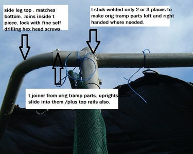 Basic Format to Join Up Using T Joins From Tramp . Note Welded Corner
