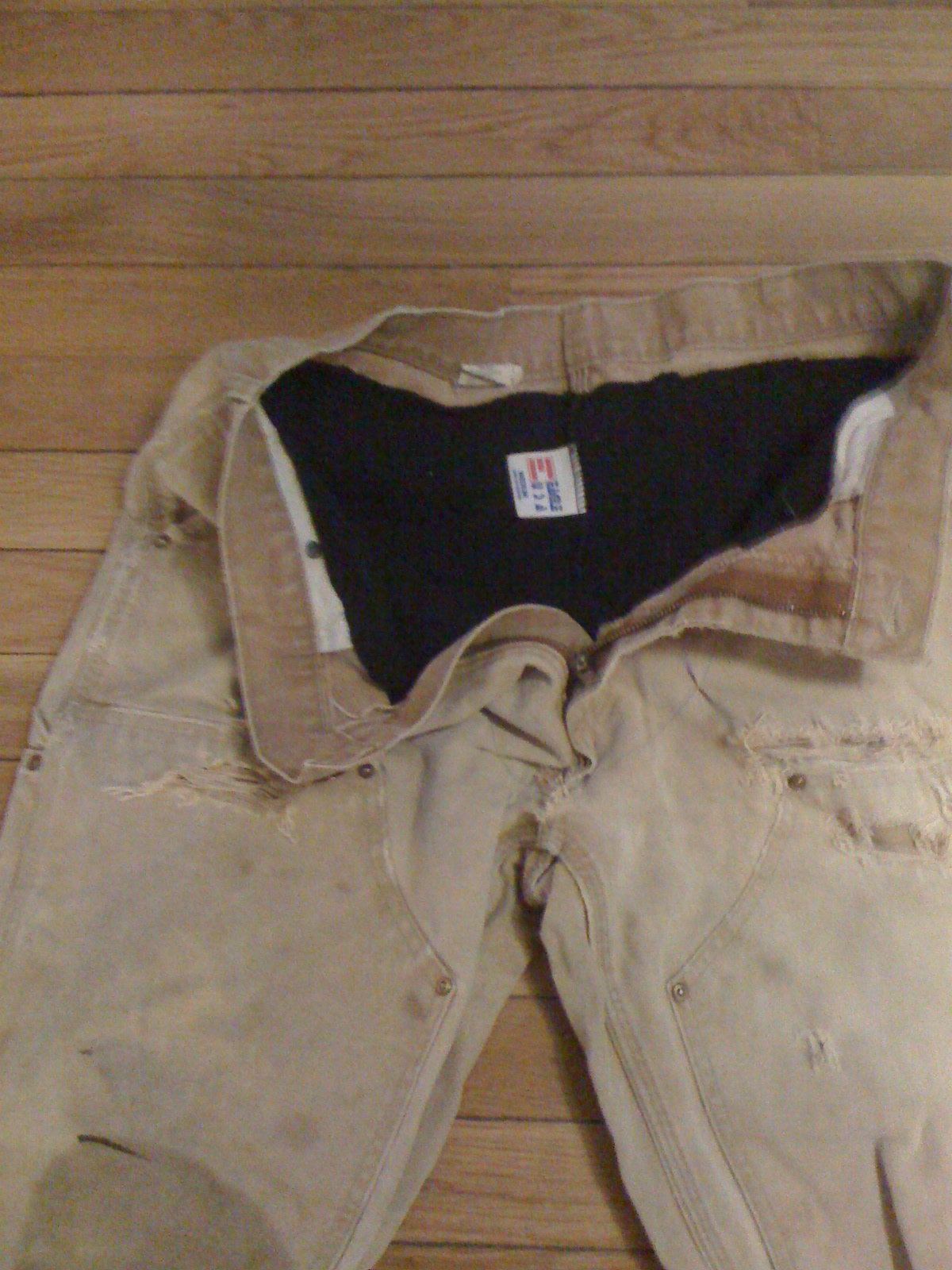 Insulated work pants