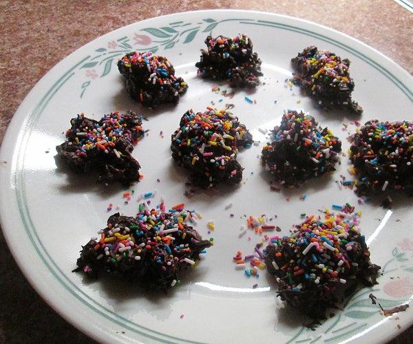 Chocolate Rasin Crunch Balls on a Rainy Day