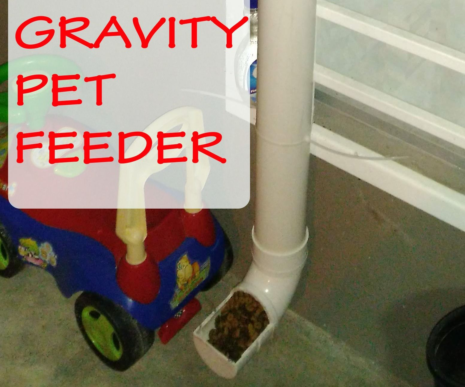 Gravity Pet Feeder Using Pvc Pipes 4 Steps Instructables