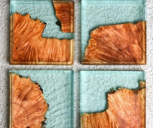 DIY Resin & Wood Coasters