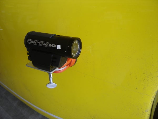 Inexpensive Vacuum-attached Suction Cup Camera Mount