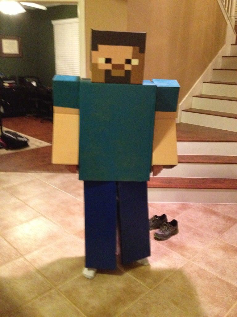 Minecraft Steve Full Costume