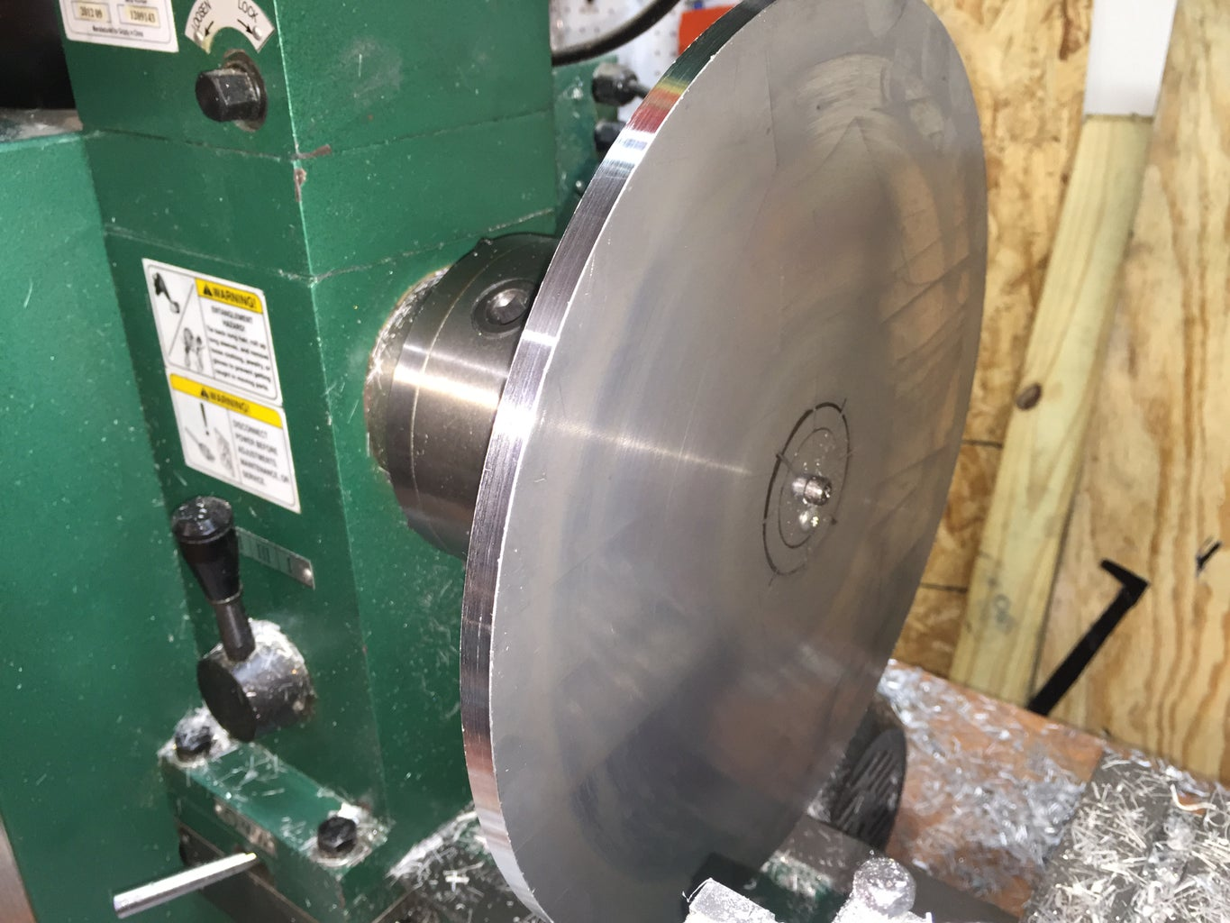 Cutting and Turning the Aluminum Plates...