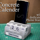 Concrete Calendar With Dedicated Phone Stand