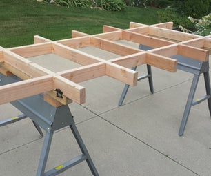 Simple Plywood Cutting Table / Work Table (Updated)