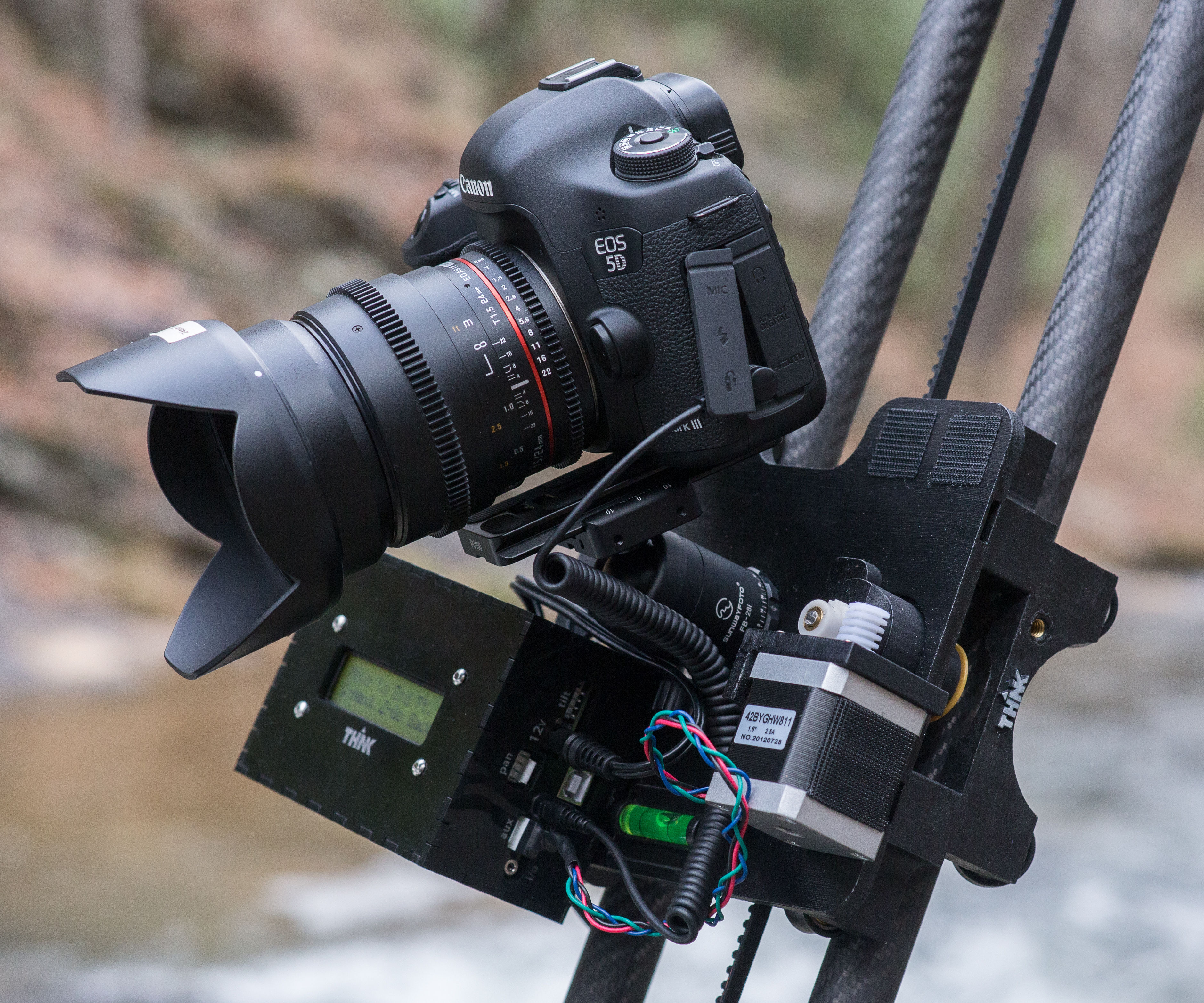 3D Printed, Ultralight, 3-axis Modular Time-Lapse Motion Control System