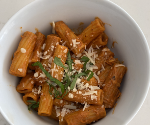 Delicious Rigatoni With Pink Sauce