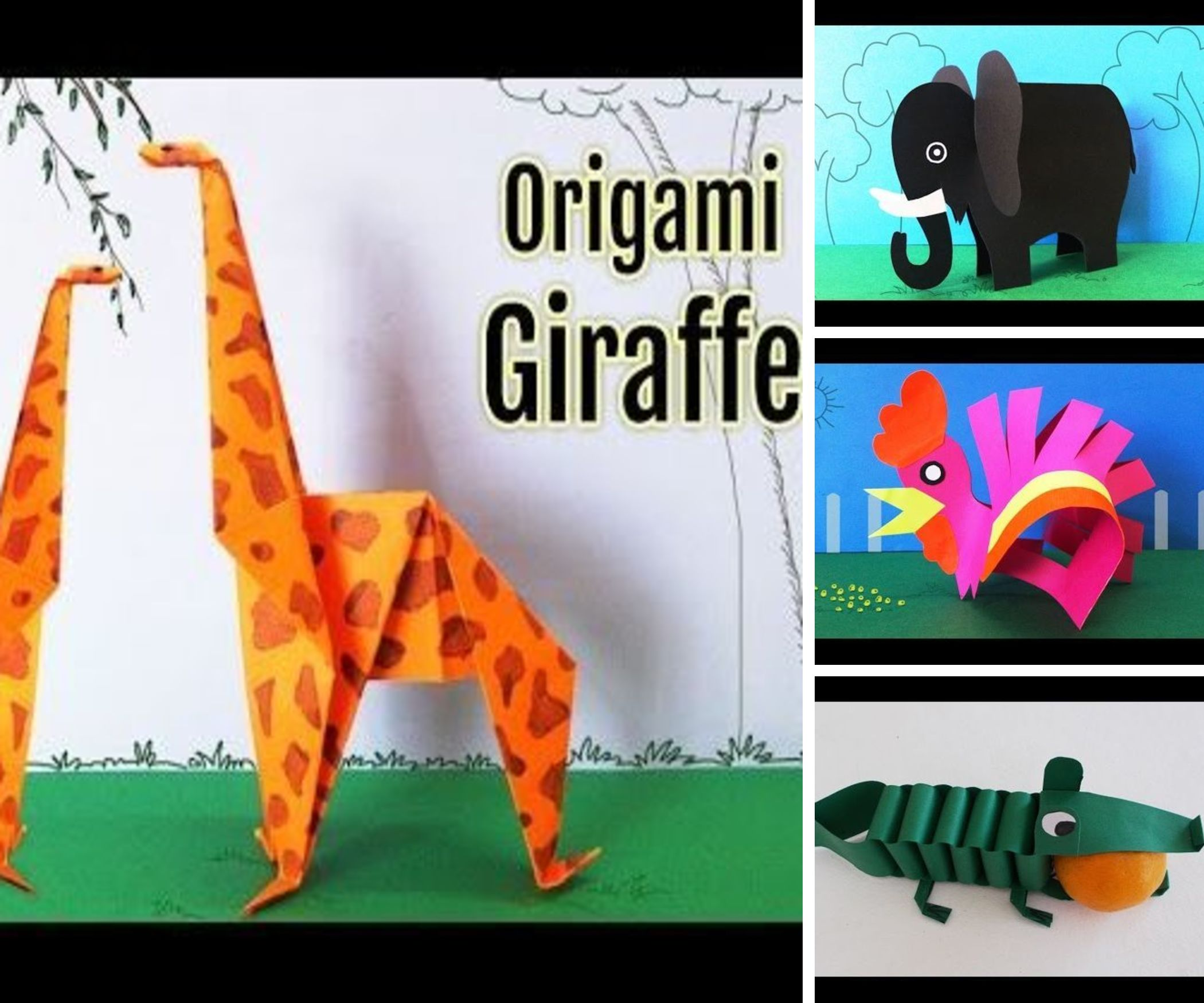 Paper Animals Collection for Kids