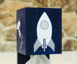 The Space Cat Tissue Box Holder