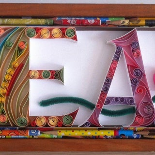 Quilled Monograms -Cheap, Easy, No Special Equipment
