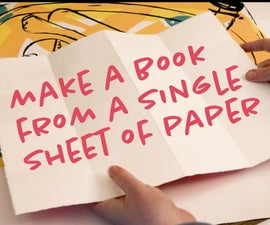Fold a Snake Book From One Piece of Paper