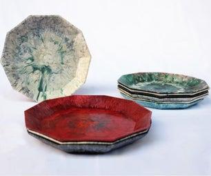 用回收塑料做盘子