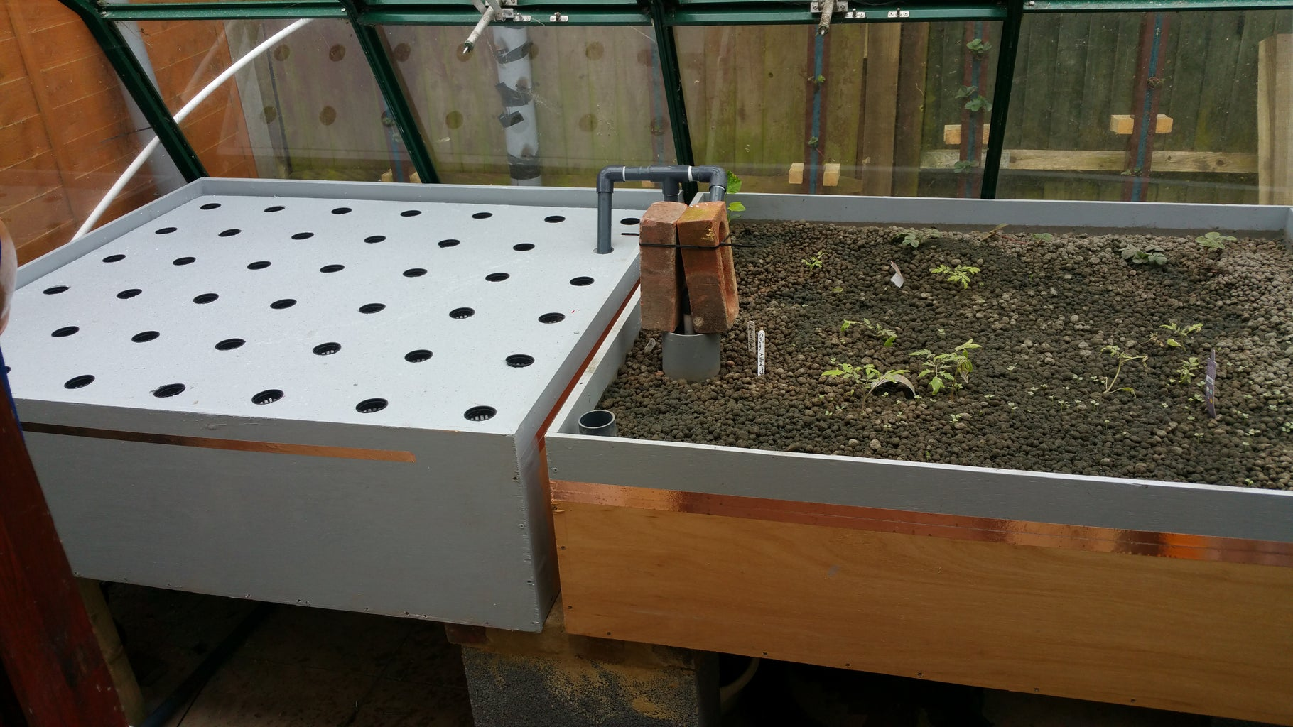 Building an Aquaponic Grow Bed Flood and Drain.