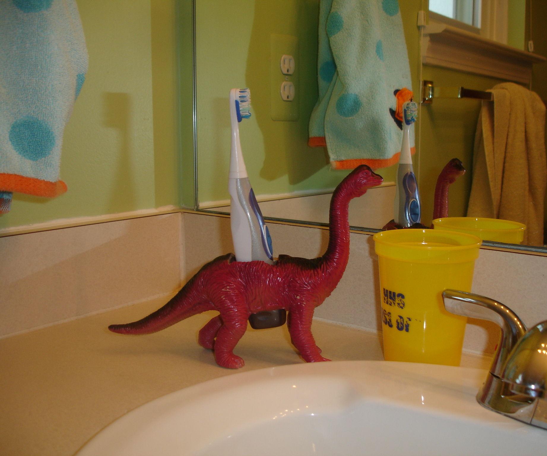 Dinosaur Toothbrush Holder