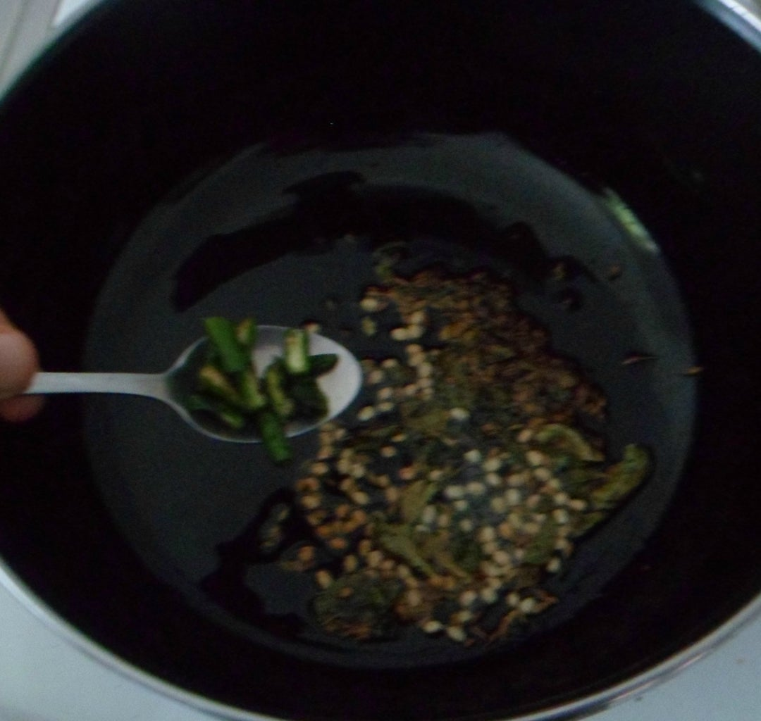Procedure for Besan Curry