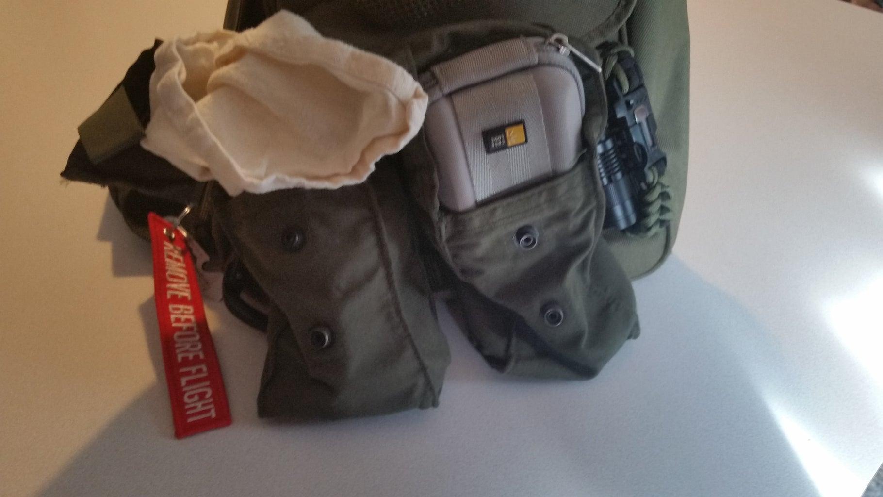 My Kit Stowed on My Bag