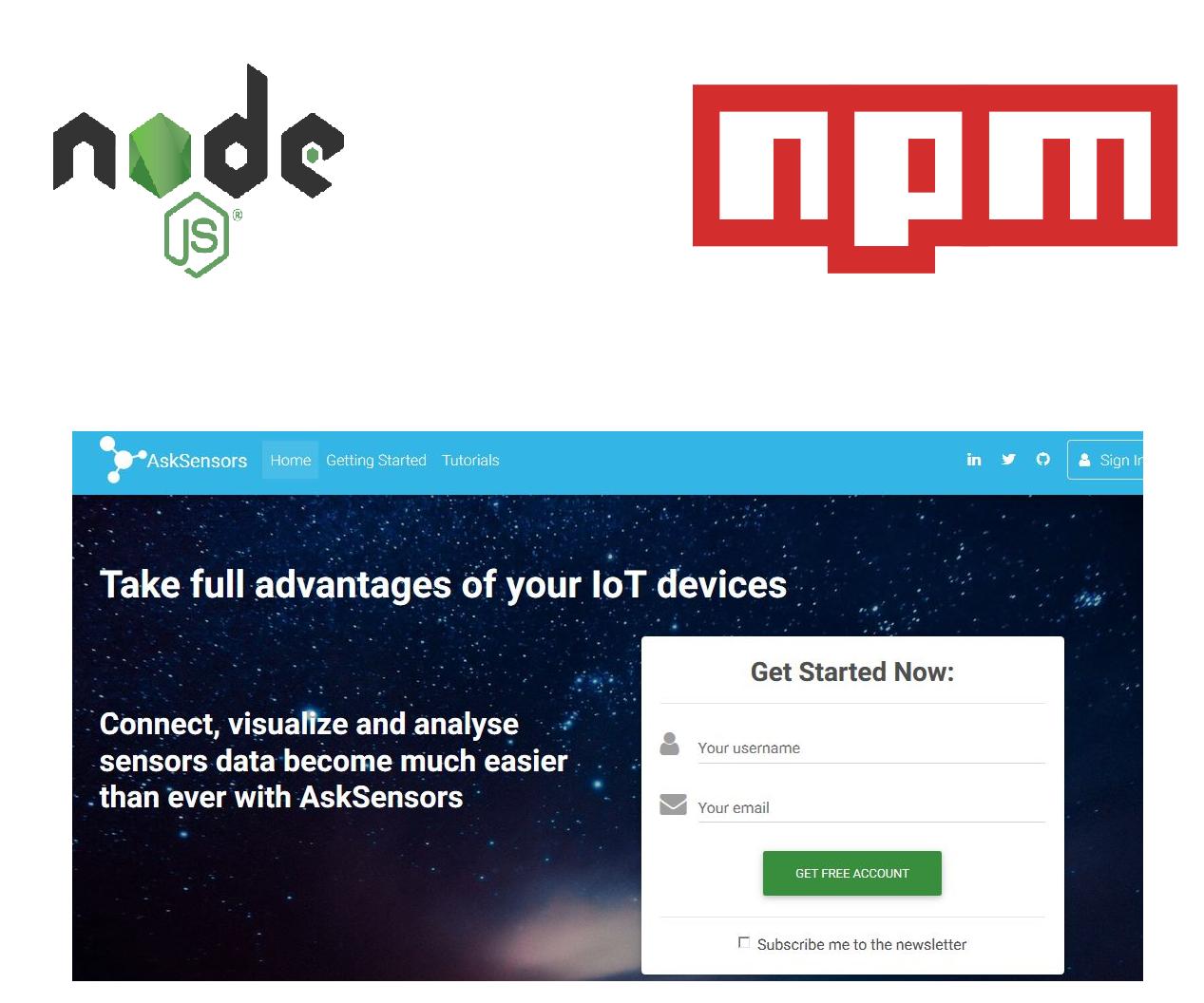 Automated Data Sending to AskSensors Using Node JS