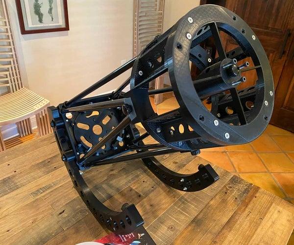 3D-printed Newtonian Reflector Telescope