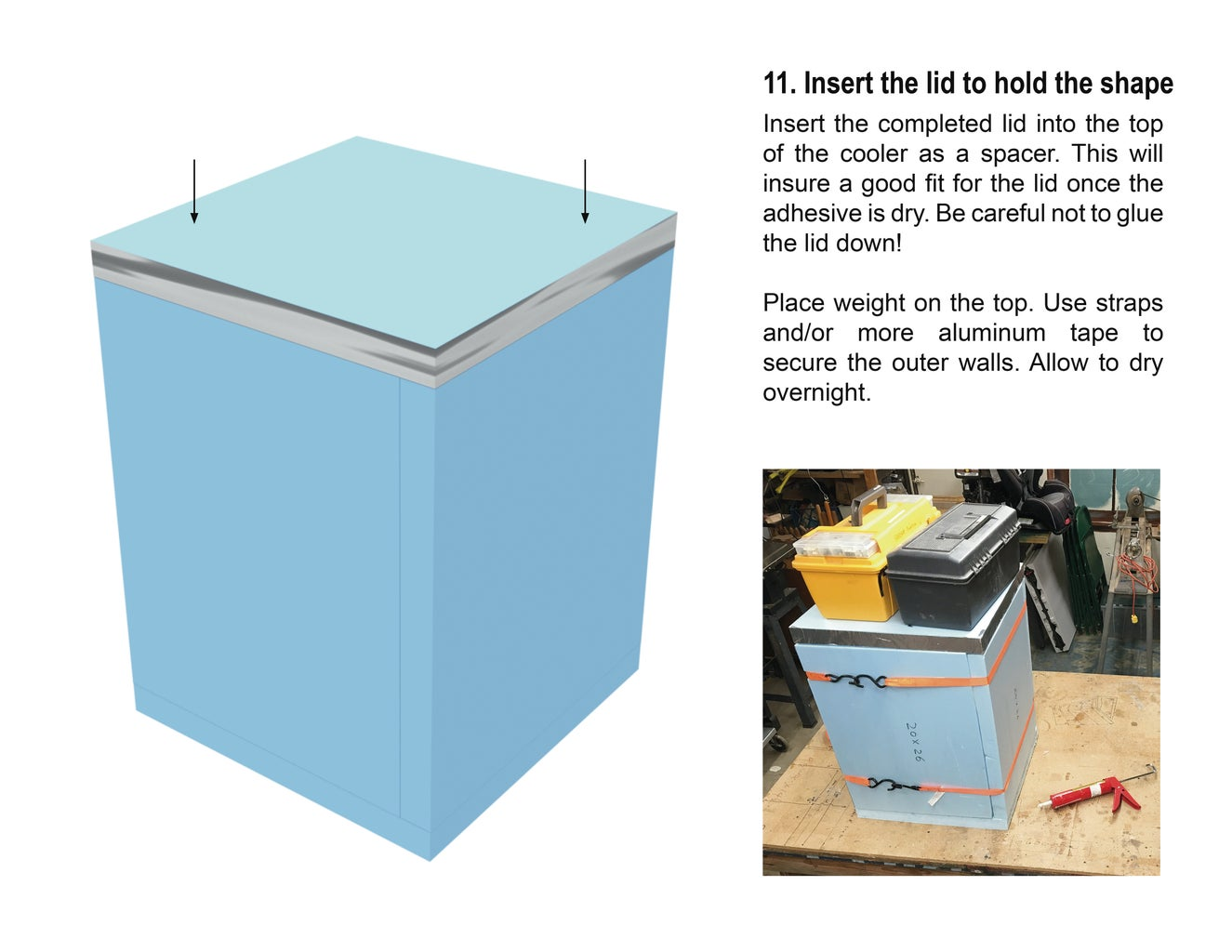 Assemble the Cooler From Foam Sheets