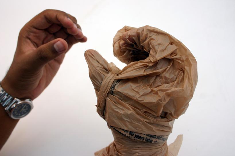 "Plastic Bag Mitten ""Rubber Glove"""
