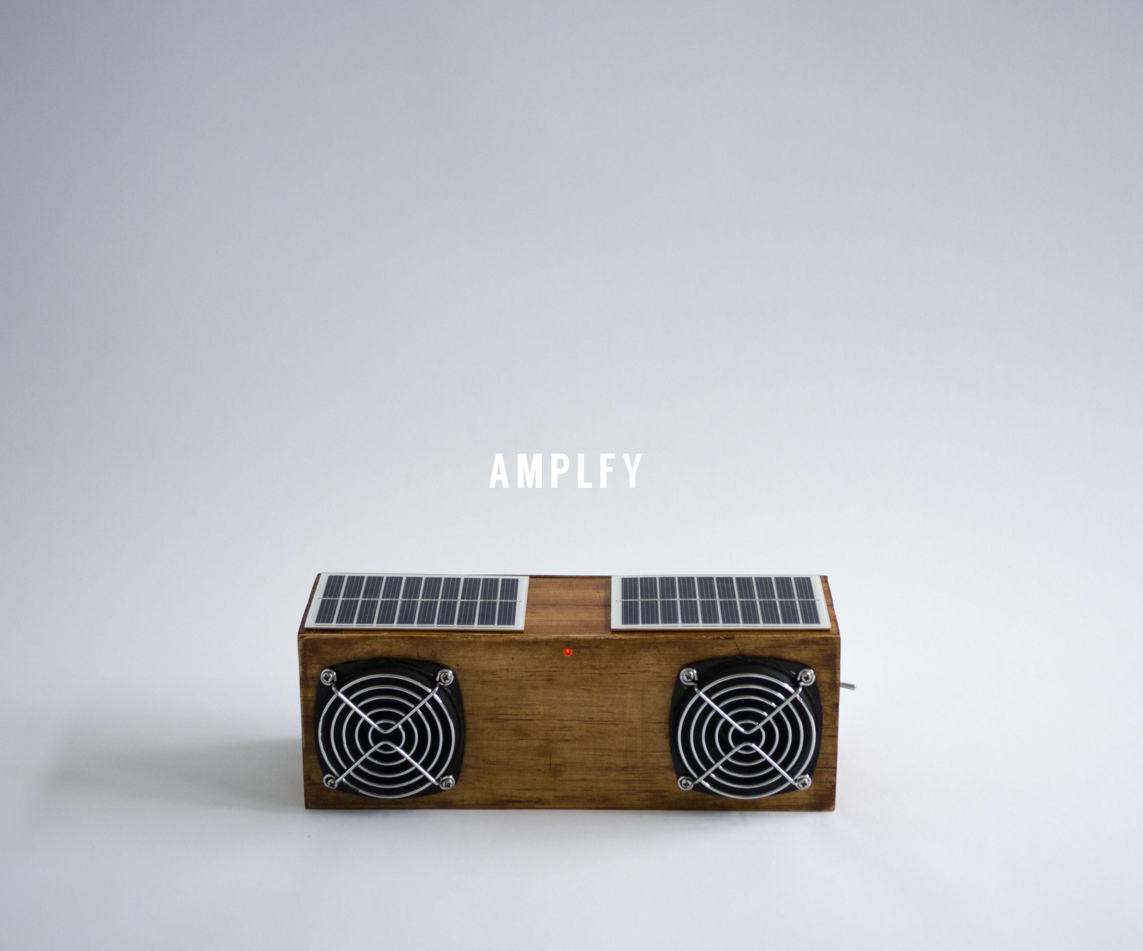AMPLFY Mini DIY Portable Speaker - Solar / Bluetooth / Flash Light / Phone Charger