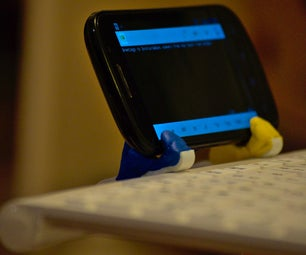 Smartphone Holder for Portable Bluetooth Keyboard With Sugru