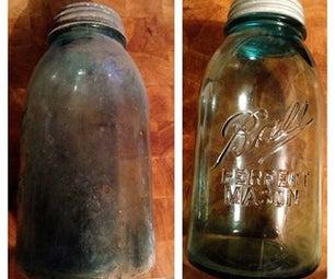 Cleaning Antique Glass Jars (Mason Jars)