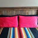 Introduction:  Queen Bed Wood Headboard