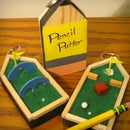 The Pencil Putter: Backpack Golf Course Keychain