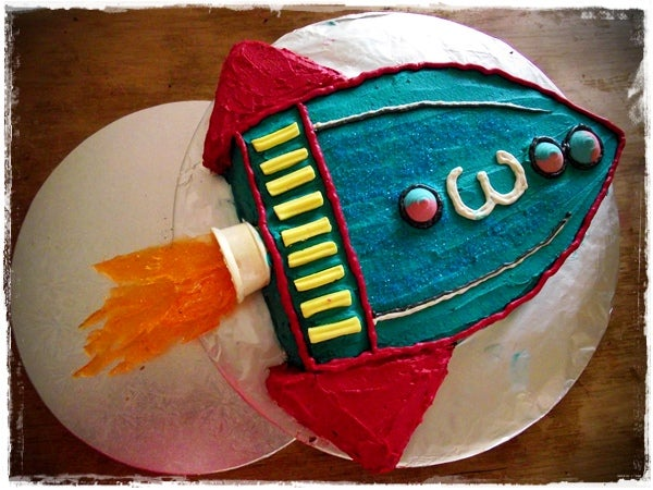 Rocket Cake (for Toy Story Party)