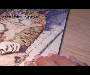 Pyrography: Special Techniques – Corrugated Cardboard Effect