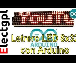 Control 4 Matrix 8x32 - Arduino - MAX7219