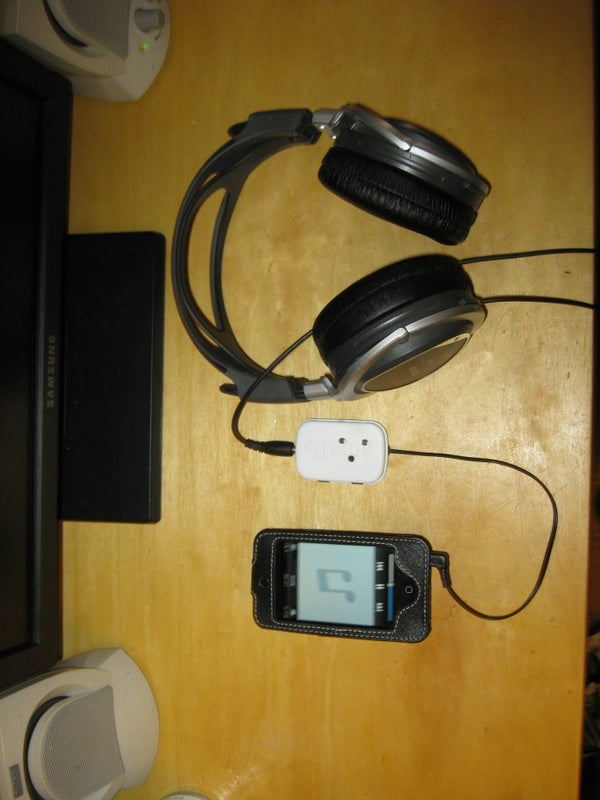Large IPod Inline Remote for Use With Any Head Phones/Ear Buds
