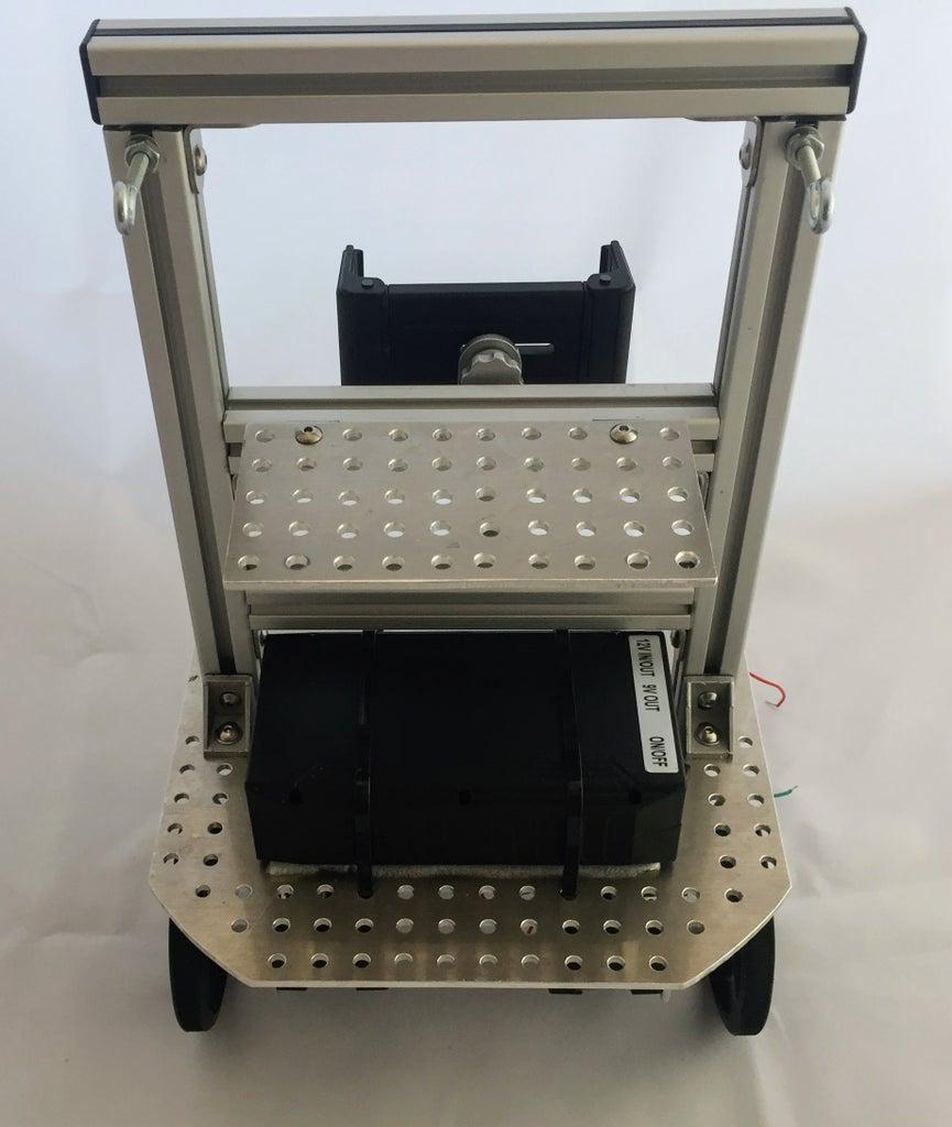 Battery, Tablet Mount and Servo Shelf