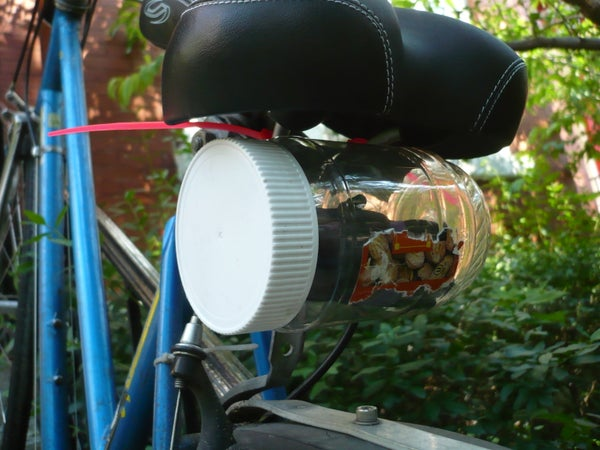 Plastic Jar Bike Saddle Bag