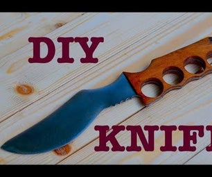 DIY Classic Knife Out of Rusted Metal Sheet