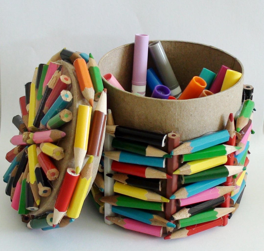 Easy to Make 'Pencil Boxes' Recycle Your Pencils