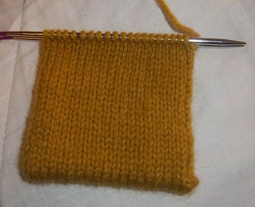 Cast on and Knit Up