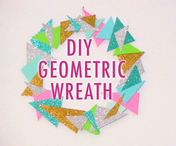 DIY Modern Geometric Wreath