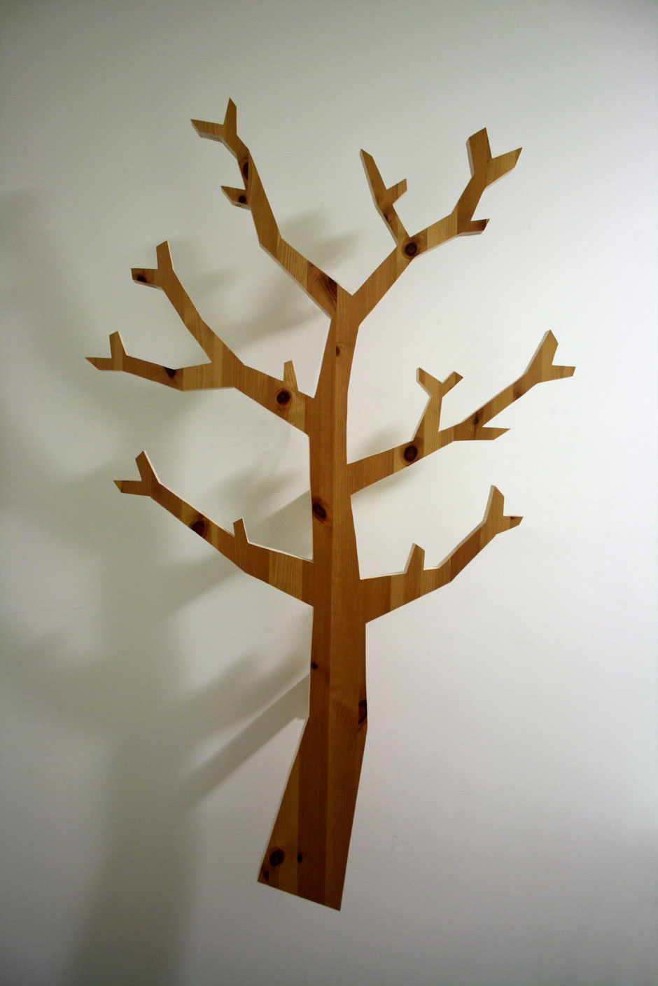 Make a fancy looking tree-shaped hatstand out of scrap wood