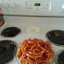Use Up Greasy Leftovers (Spaghetti and Garlic Parmesan Bites on Pita)