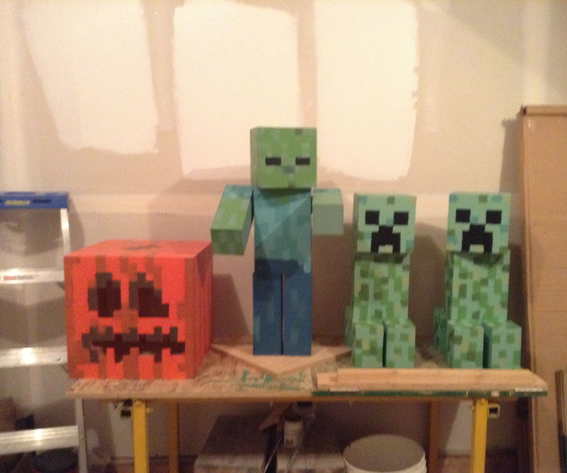 Plywood Minecraft Figures for Haloween (or whenever!)