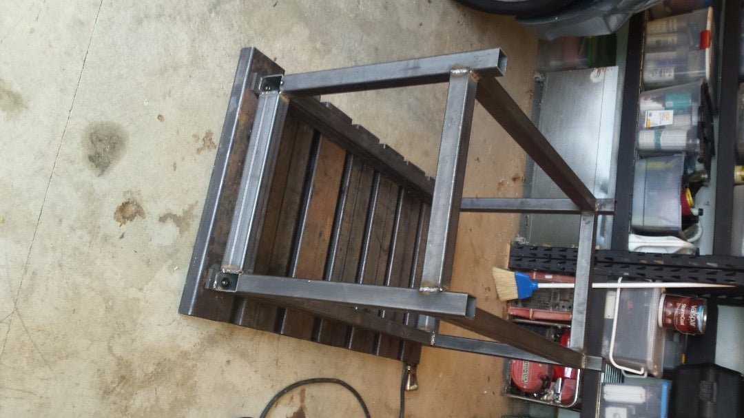 Weld on the Legs and Cross Braces