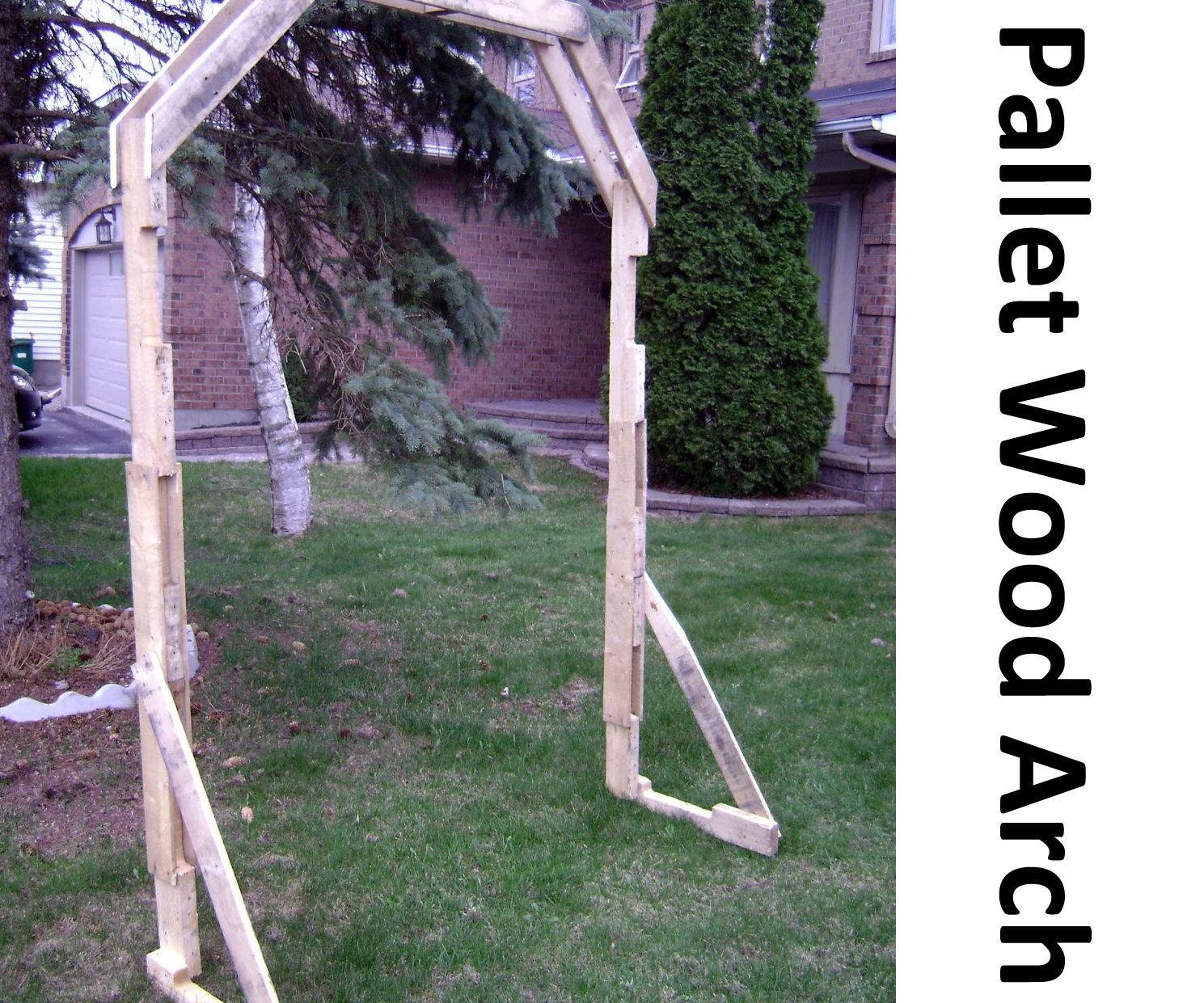 Pallet Wood Arch