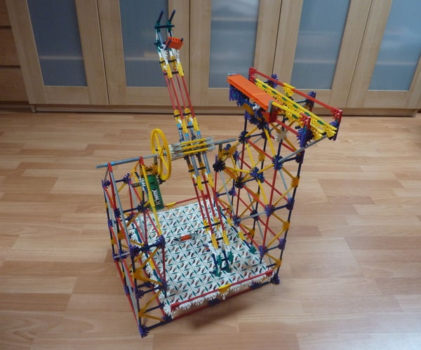 Floor Double Arm Lift, a Knex Ball Machine Lift