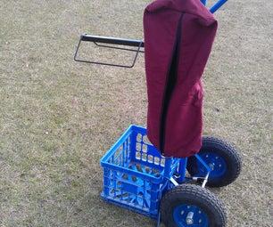 Rolling Saddle Rack Cart
