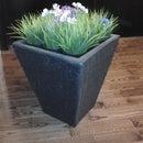 Make an outdoor fiberglass flower pot